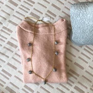 Talbots Long Gold Chain With Round Accents NWT